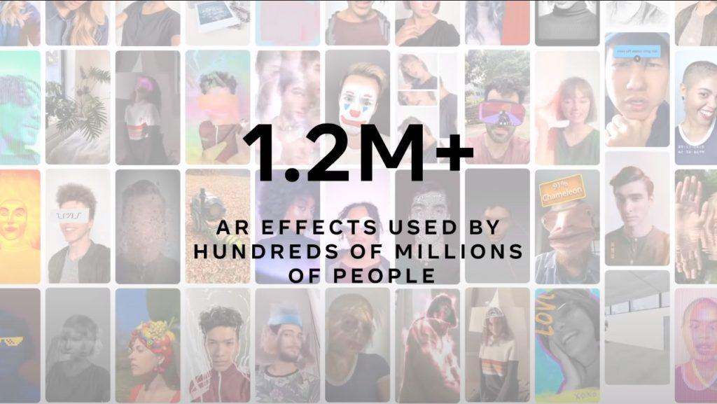 400 אלף יוצרים הוציאו מליון ומאתיים פילטרים לאינסטגרם.